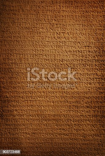 istock Background of ancient stone carved hieroglyphs 903723468