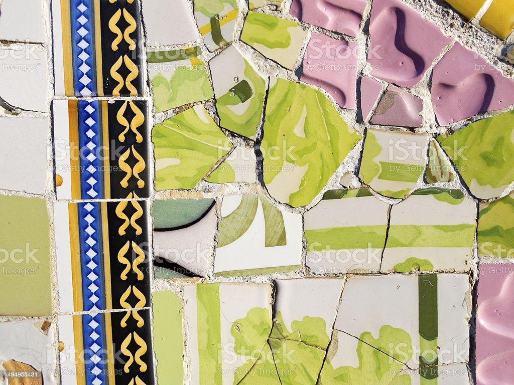 Background Of Antonio Gaudi Mosaics Stock Photo - Download Image ...