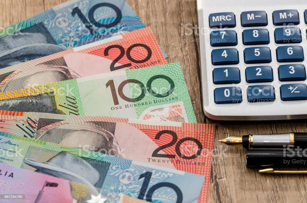Background of auastralian dollar for design stock photo