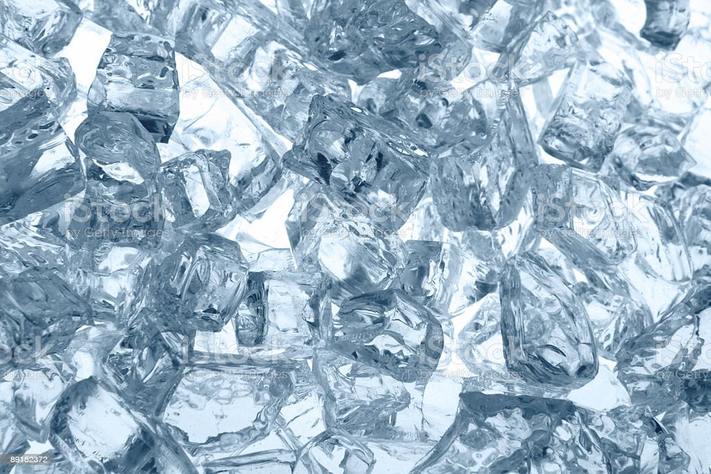 Background of Back Lit Chunks of Ice Cubes royalty-free stock photo
