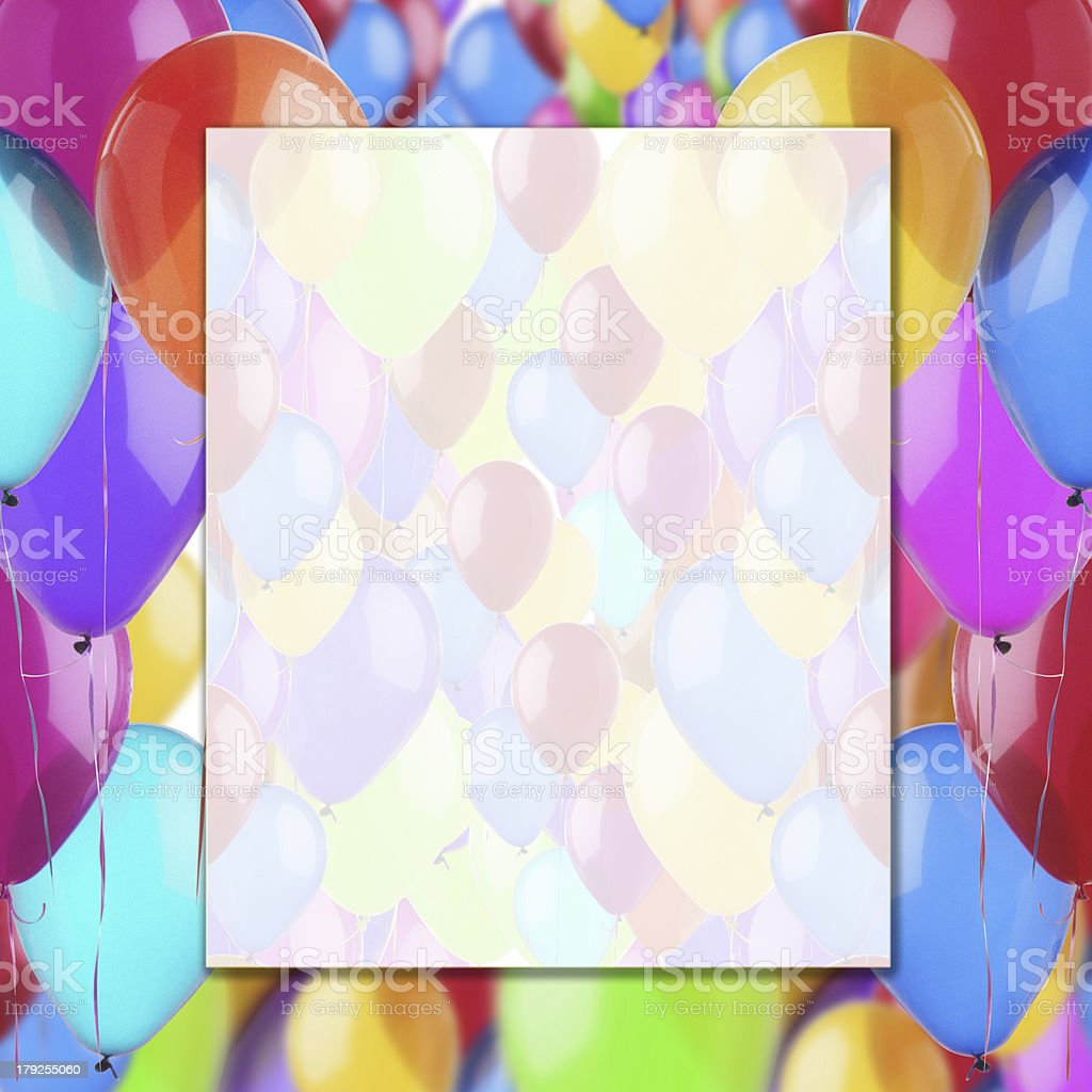 background of balloons stock photo