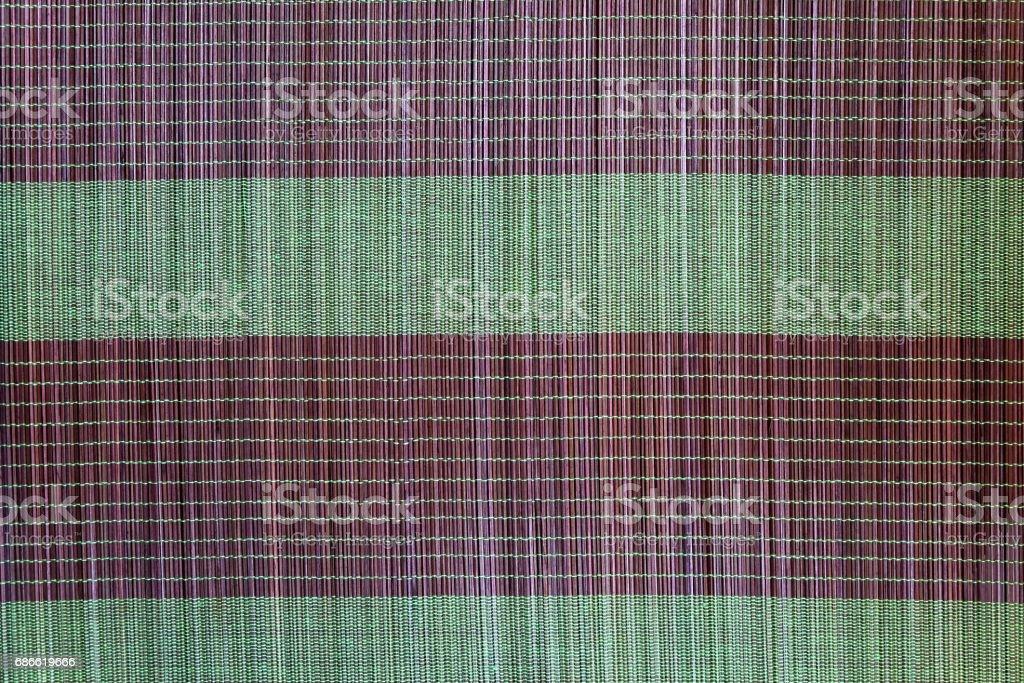 Fond de plaque de natte de bambou, motif coloré, texture de bambou, un espace vide de la natte de bambou photo libre de droits