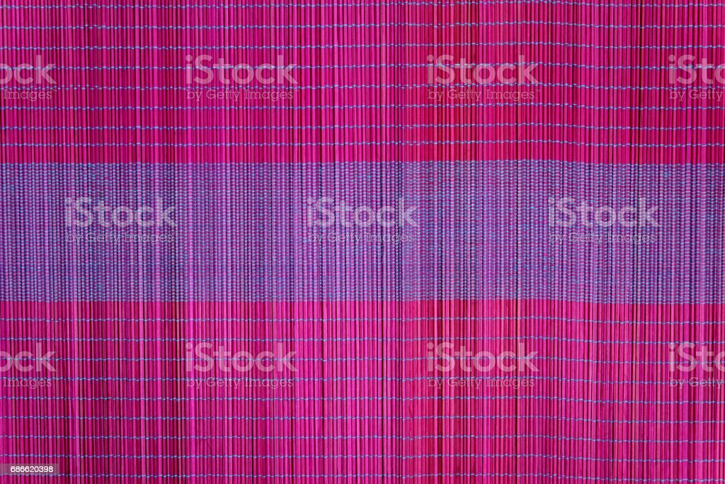 Background of bamboo mat plate, Colorful pattern, Bamboo texture, Blank space of bamboo mat royalty-free stock photo
