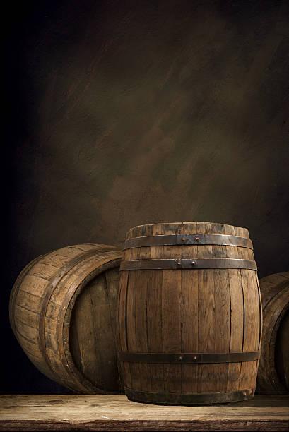 background of barrel wood, – Foto
