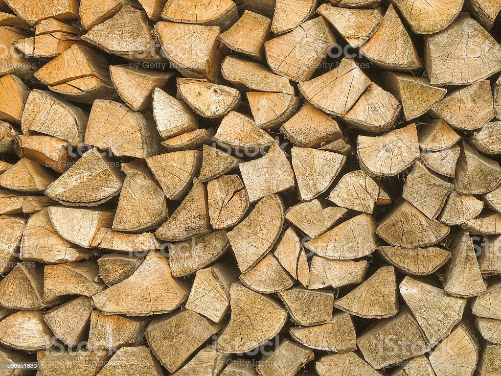 Background of birch logs, Tver region, Russia royalty-free stock photo
