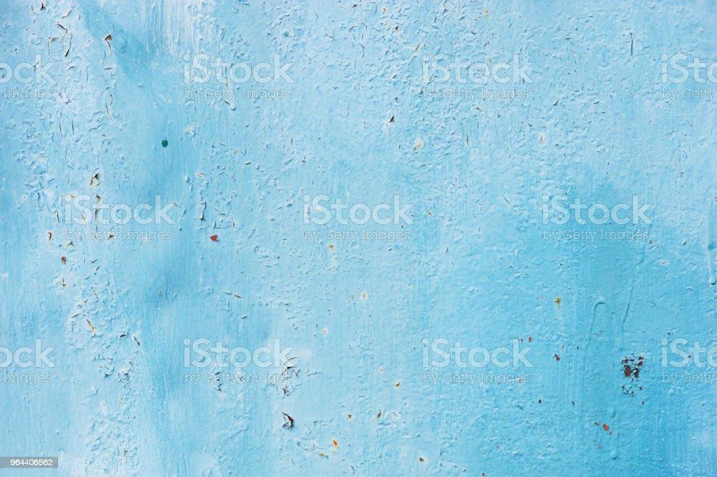Fundo de azul pintado metal superfície texturizada - Foto de stock de Abstrato royalty-free