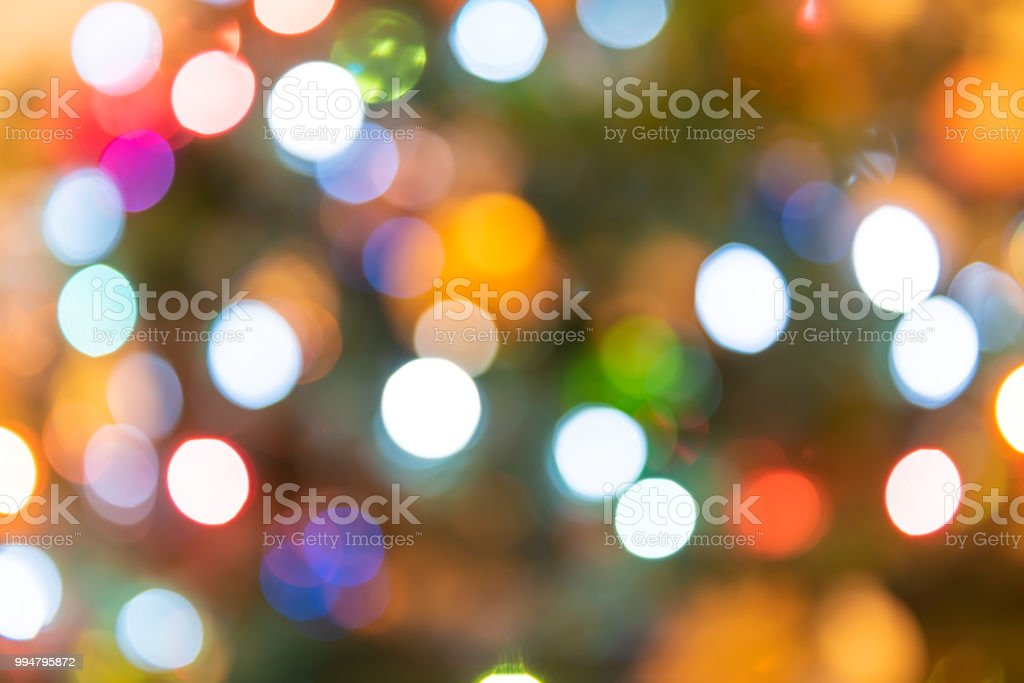 Background Of Blurred Colorful Multicolored Multi Colored Christmas Ornament Bokeh Round Circles