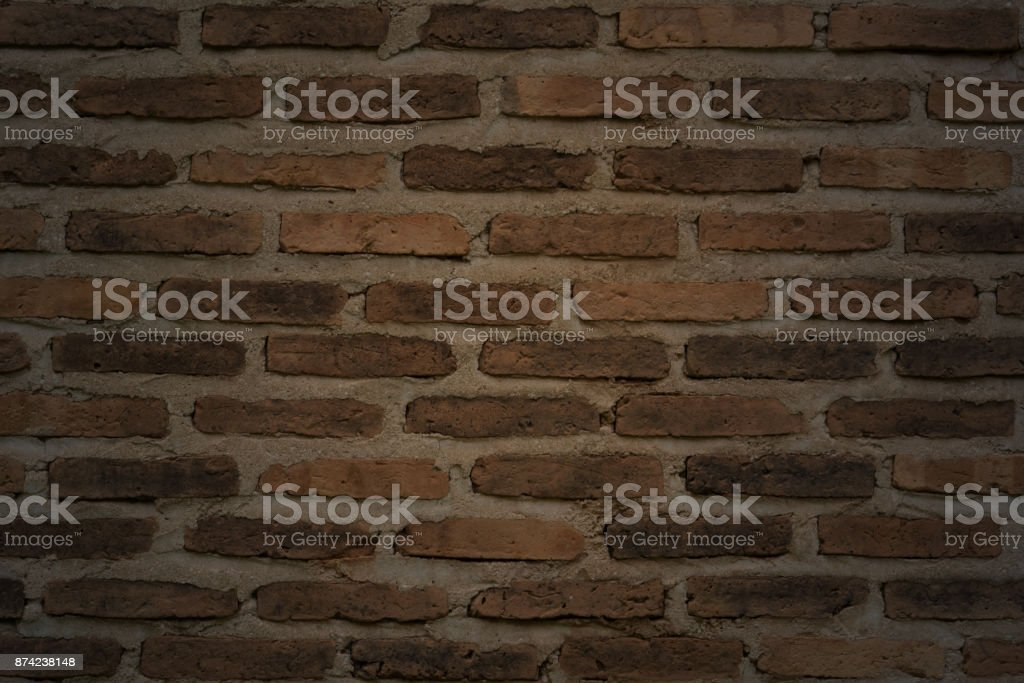 Background Of Brick Wall Texture, Grunge Wall stock photo