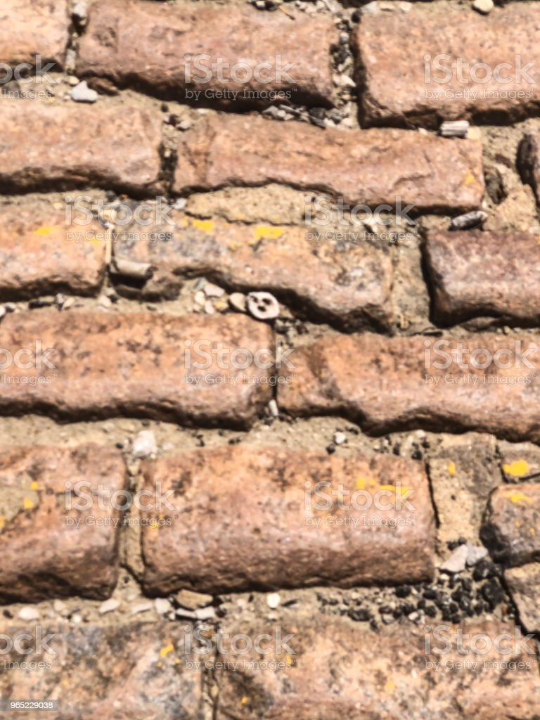 Background of brown bricks on levee zbiór zdjęć royalty-free