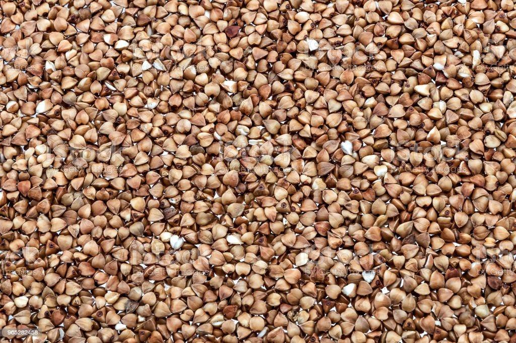 Background of buckwheat groats on all images. zbiór zdjęć royalty-free