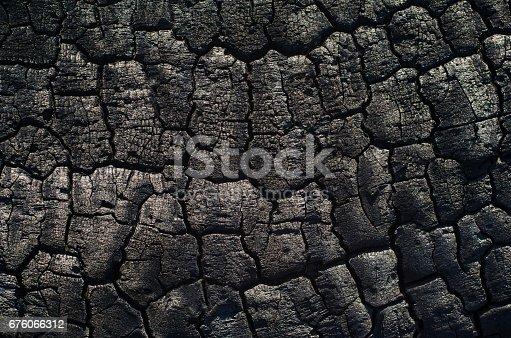 istock Background of burnt wood texture 676066312