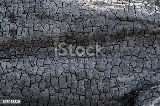 istock Background of burnt wood texture 676066326