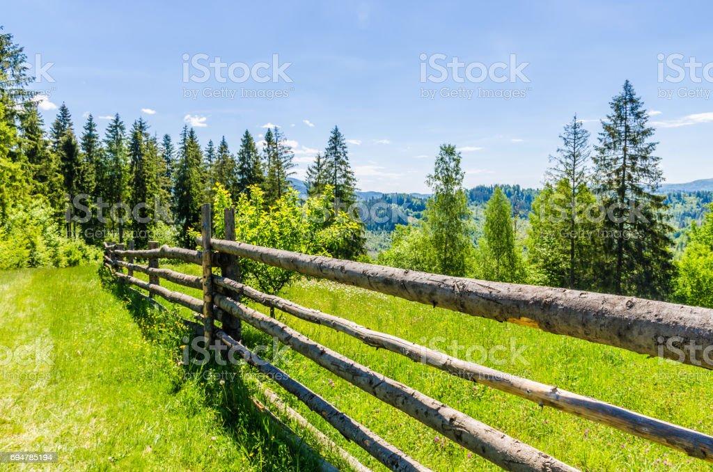 Background of Carpathian mountains landscape in Ukraine stock photo