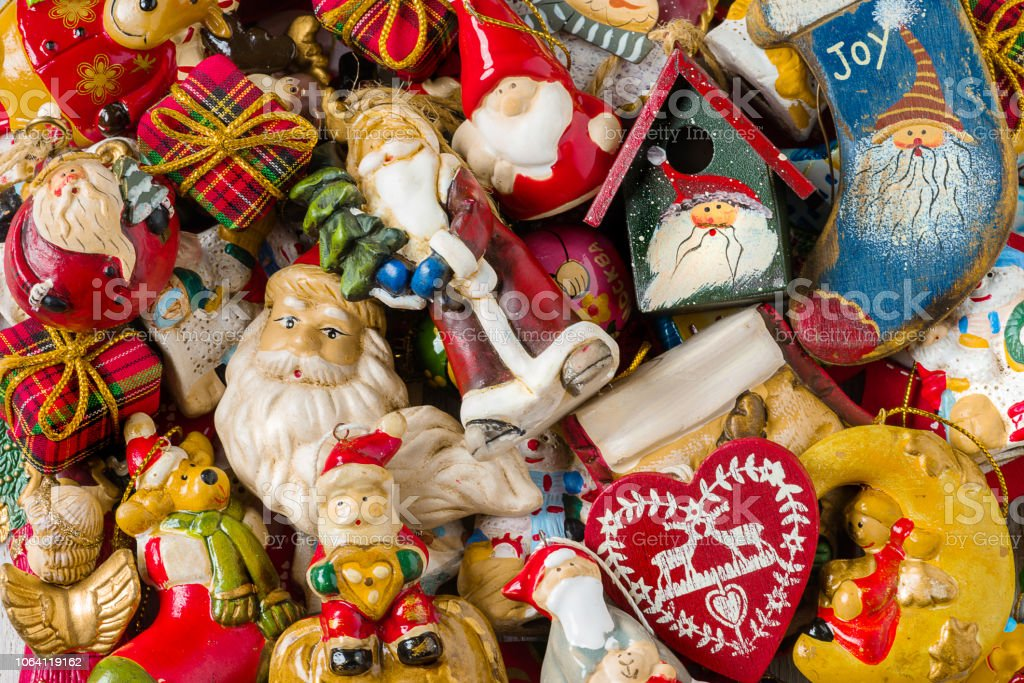 Background of Christmas decorations. - foto stock