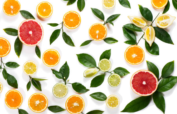 Background of citrus fruits - Photo
