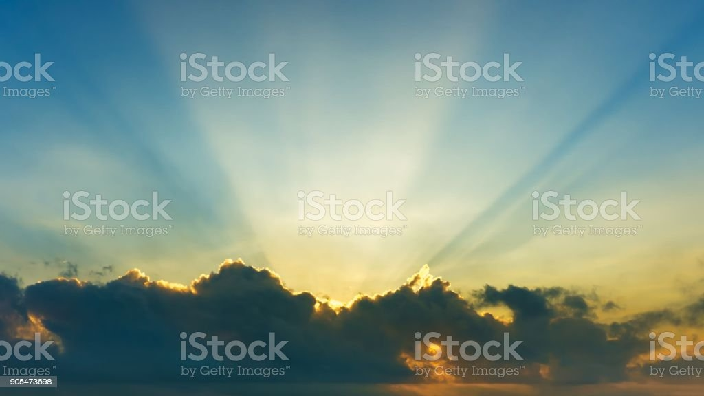 Background of cloud on the sky and sliver lining stock photo