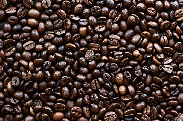 Background of coffee beans stock photo
