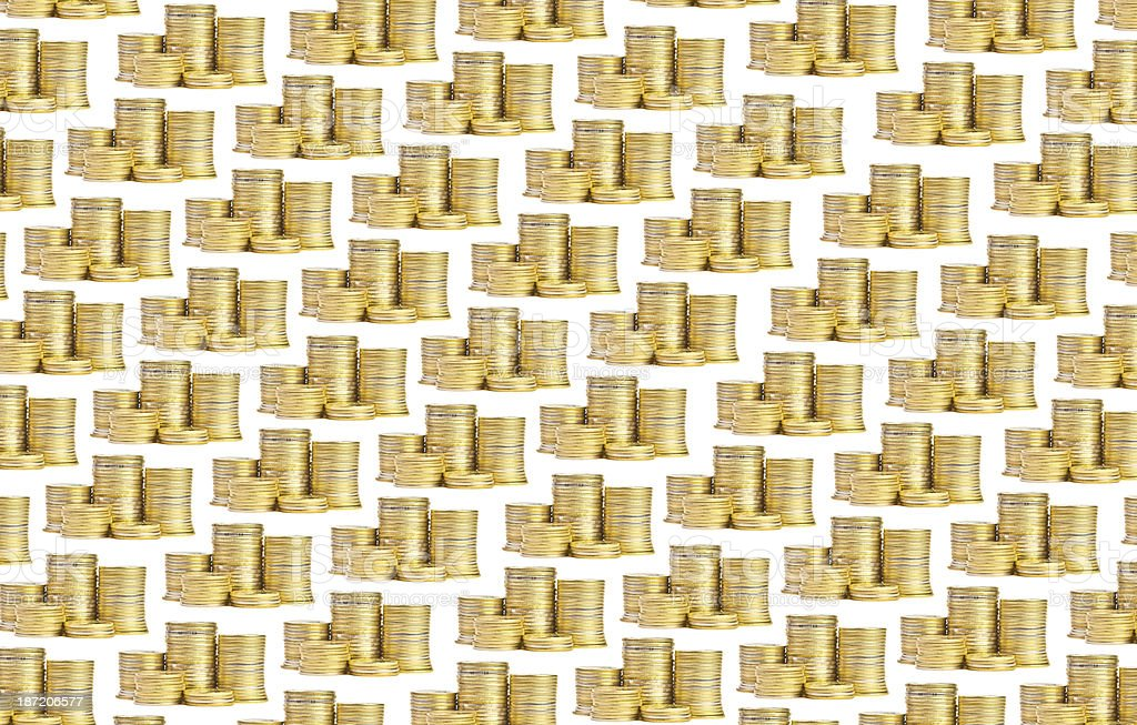 Background of coins royalty-free stock photo
