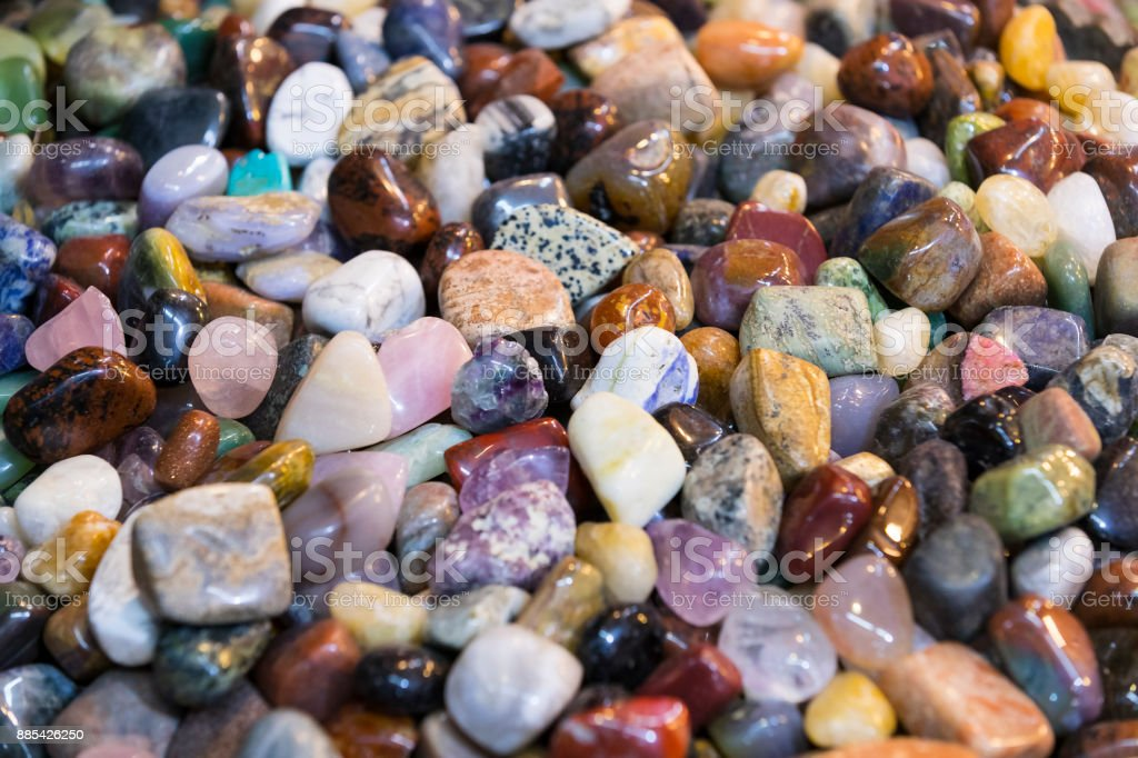 Background of colored stones stock photo