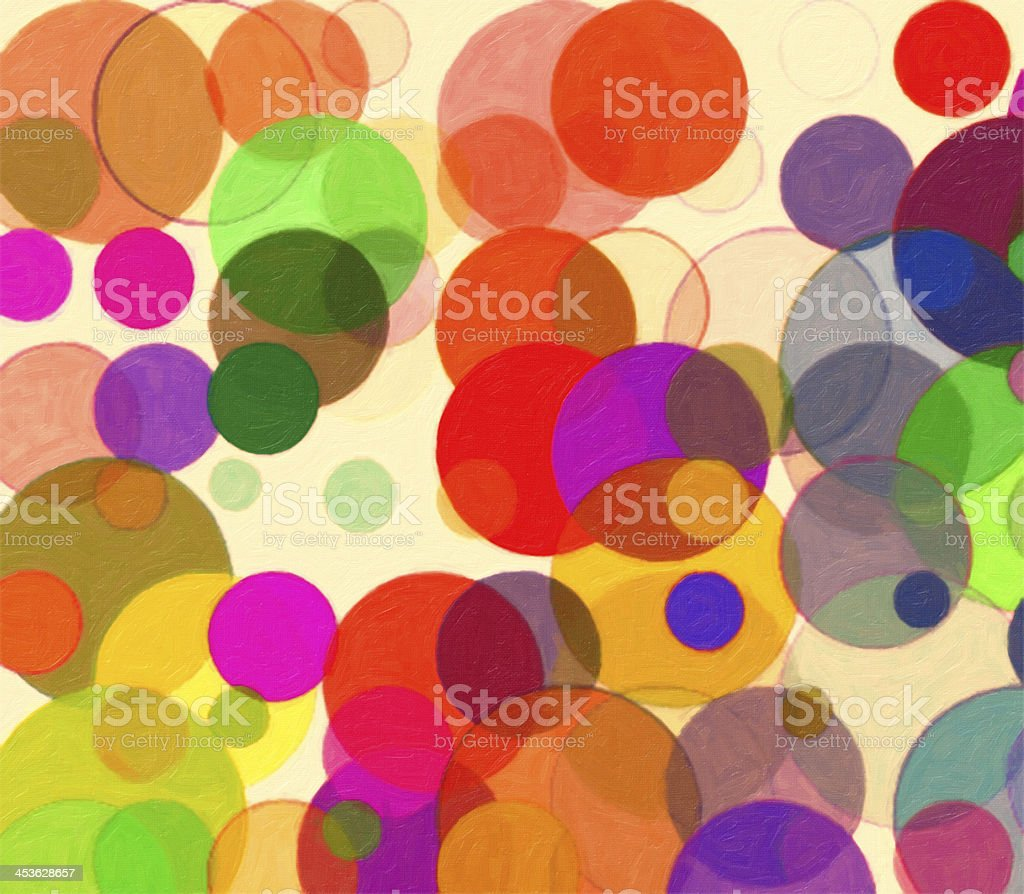 Background of colorful circles royalty-free stock photo