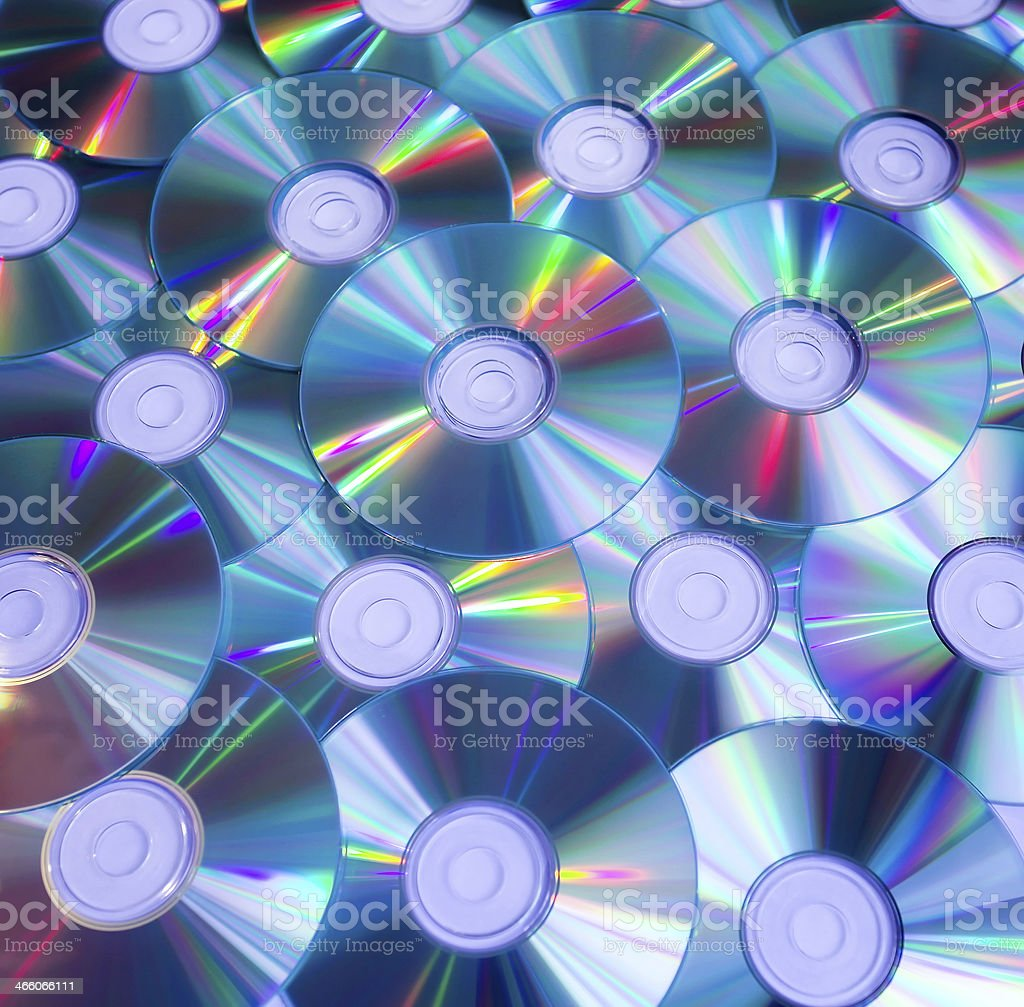 background of compact discs stock photo