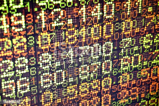 istock Background of compilation of stock data 184868742