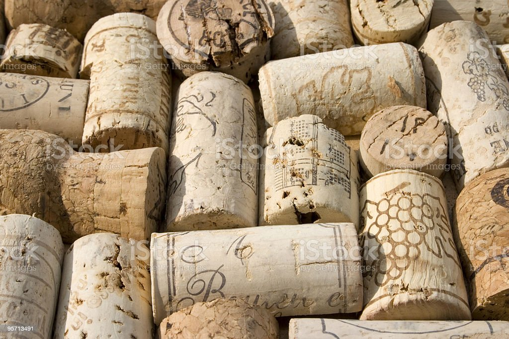 background of corks royalty-free stock photo