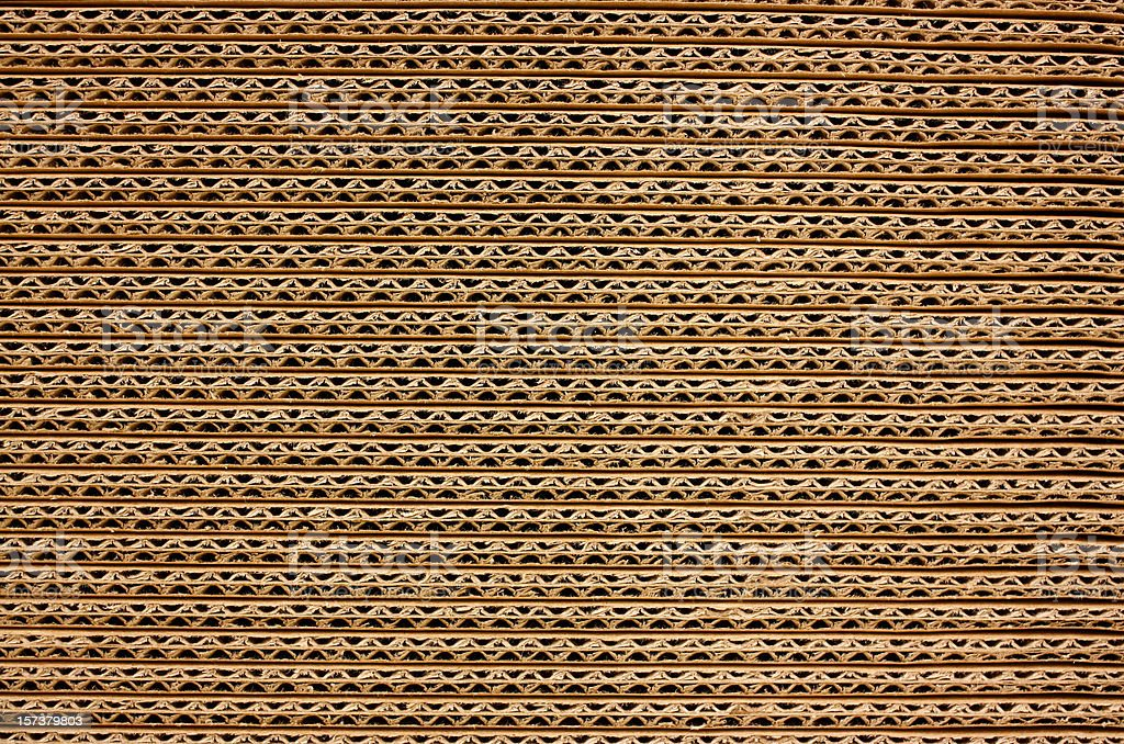Background of Corrugated Brown Cardboard royalty-free stock photo