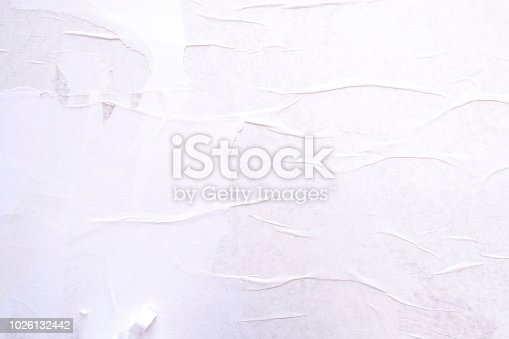 istock Background of crumpled white paper 1026132442