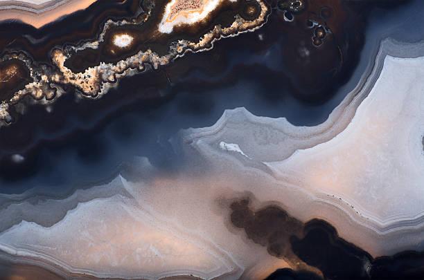 Arrière-plan sombre contraste structure de l'agate - Photo