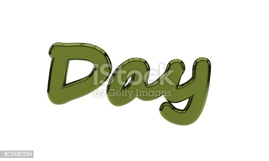 istock Background of day text, 3d render 672497234