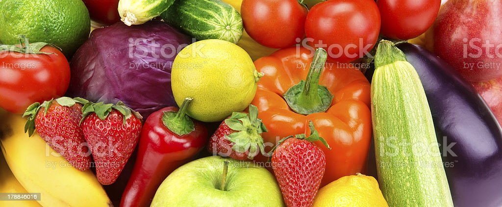 background of different fruits and vegetables royalty-free stock photo