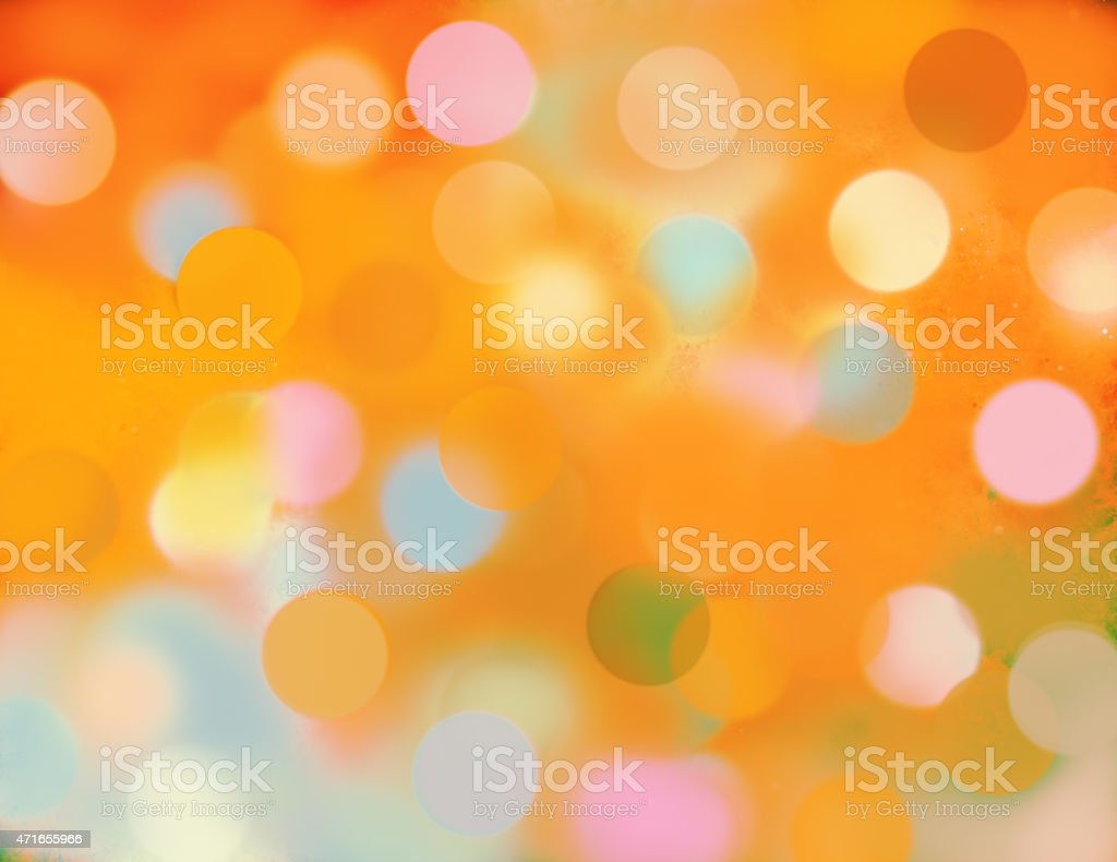 Background of digital defocused yellow and  orange light effects. stock photo