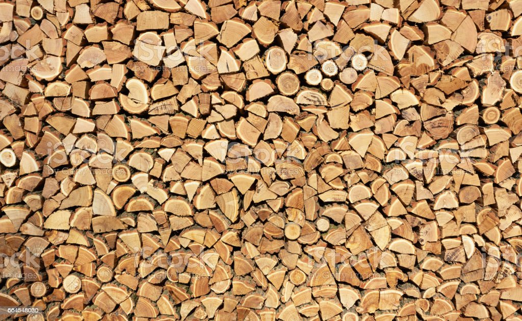 Background of dry firewood royalty-free stock photo