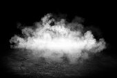istock Background of empty room, street, neon light, bokeh, smoke, fog, asphalt, concrete floor 1210263053