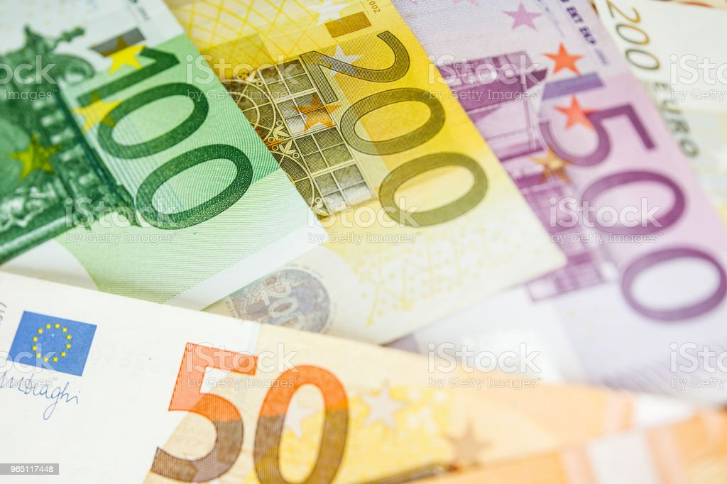 Background of euro bills. Shallow focus. royalty-free stock photo