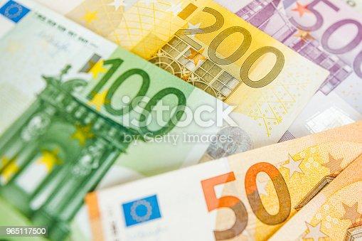 Background Of Euro Bills Shallow Focus - Stockowe zdjęcia i więcej obrazów Bank