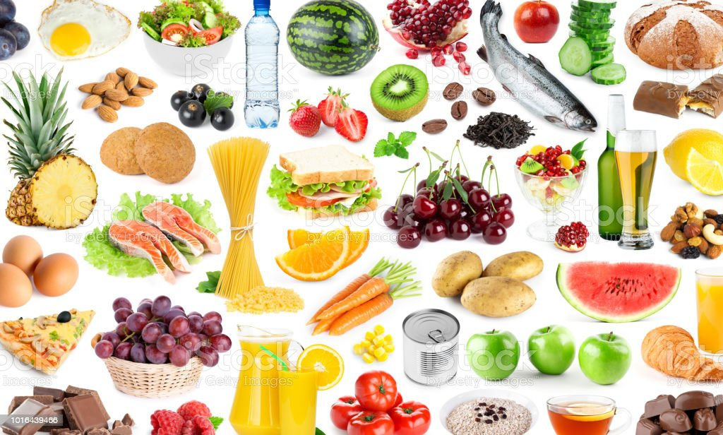Background of food and drink. Fruits and vegetables. Fresh food