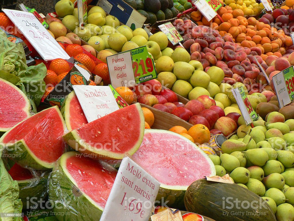 Background of fresh colorful fruit royalty-free stock photo