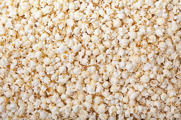 Background of fresh made popcorn stock photo