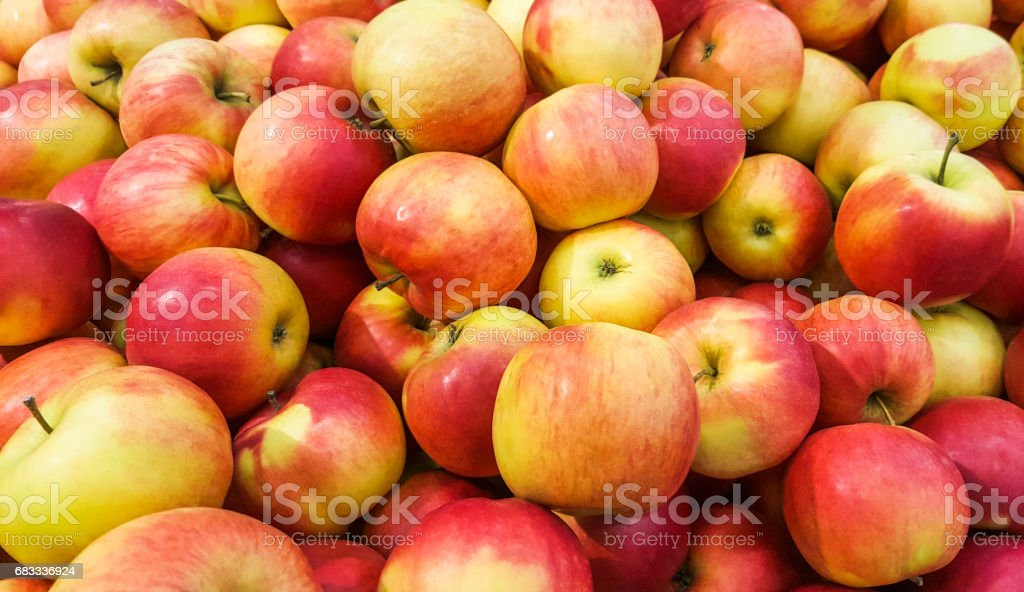 Background of fresh red apples. photo libre de droits