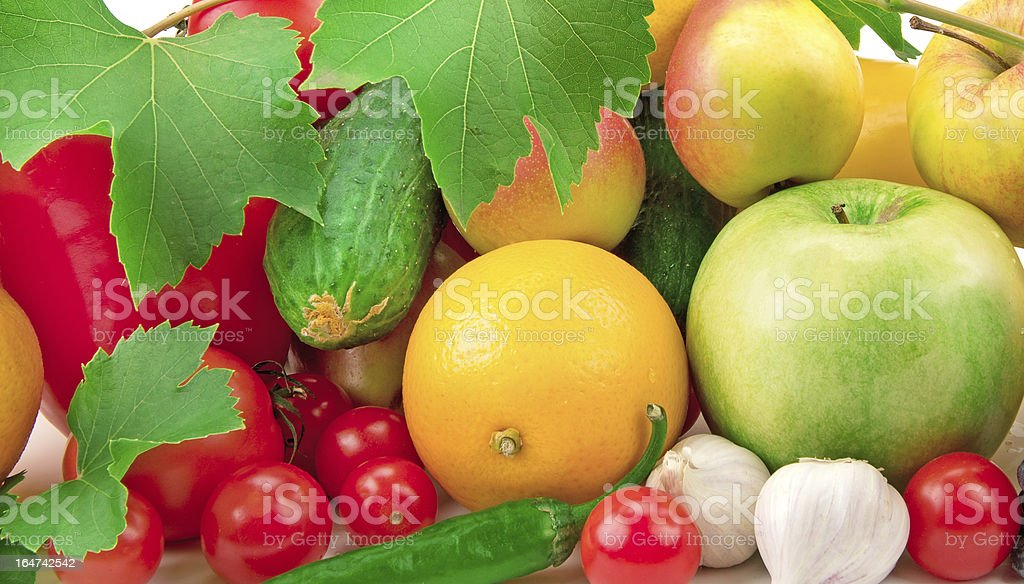 background of  fruits and vegetables royalty-free stock photo