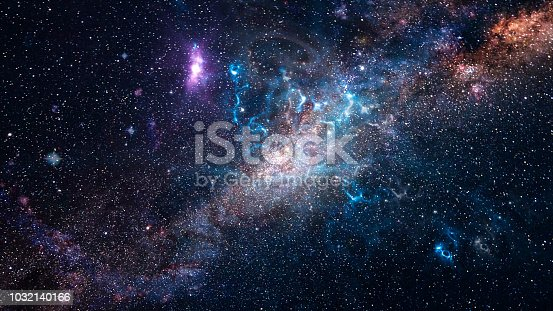 istock Background of galaxy and stars 1032140166