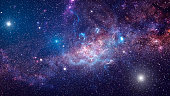 istock Background of galaxy and stars 1035676256