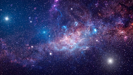 Background of galaxy and stars