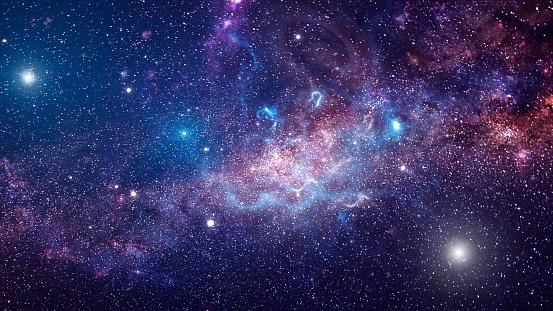 Background Of Galaxy And Stars - Fotografie stock e altre immagini di Astratto