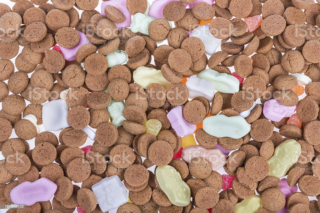 Background of ginger nuts ans sweets stock photo