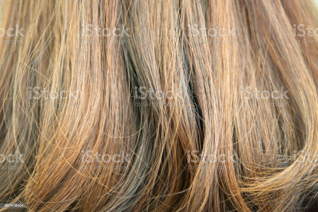 Background Of Hair Dyed Color With Highlight Technique But Makes
