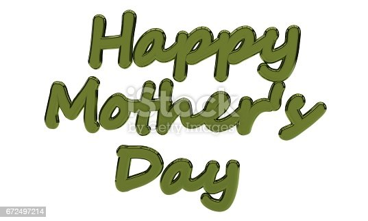 istock Background of happy mothers day text, 3d render 672497214