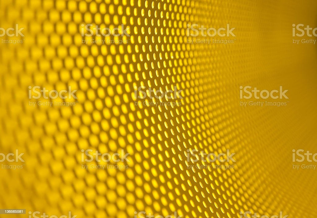 Background of honeycombed yellow texture stock photo